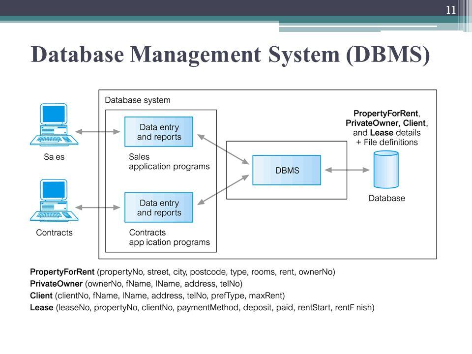 Database Management System (DBMS) 11