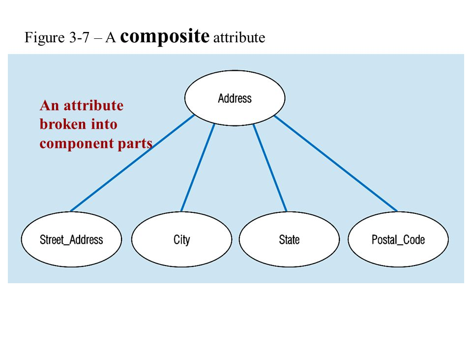 Figure 3-7 – A composite attribute An attribute broken into component parts