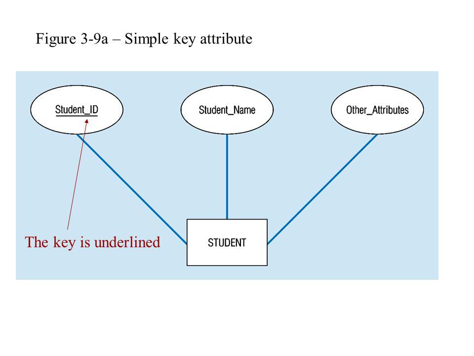 Figure 3-9a – Simple key attribute The key is underlined