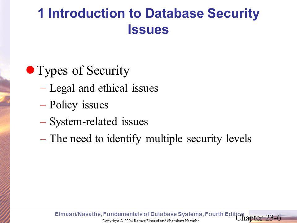 Copyright © 2004 Ramez Elmasri and Shamkant Navathe Elmasri/Navathe, Fundamentals of Database Systems, Fourth Edition Chapter 23-6 1 Introduction to D