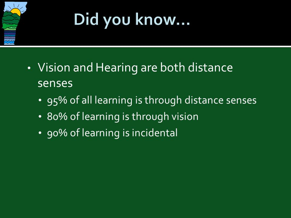 Four critical factors which affect the severity of deafblindness on the child and his development are: Age of onsetAge of onset Degree and type of vision and hearing lossDegree and type of vision and hearing loss Stability of each sensory lossStability of each sensory loss Educational intervention providedEducational intervention provided
