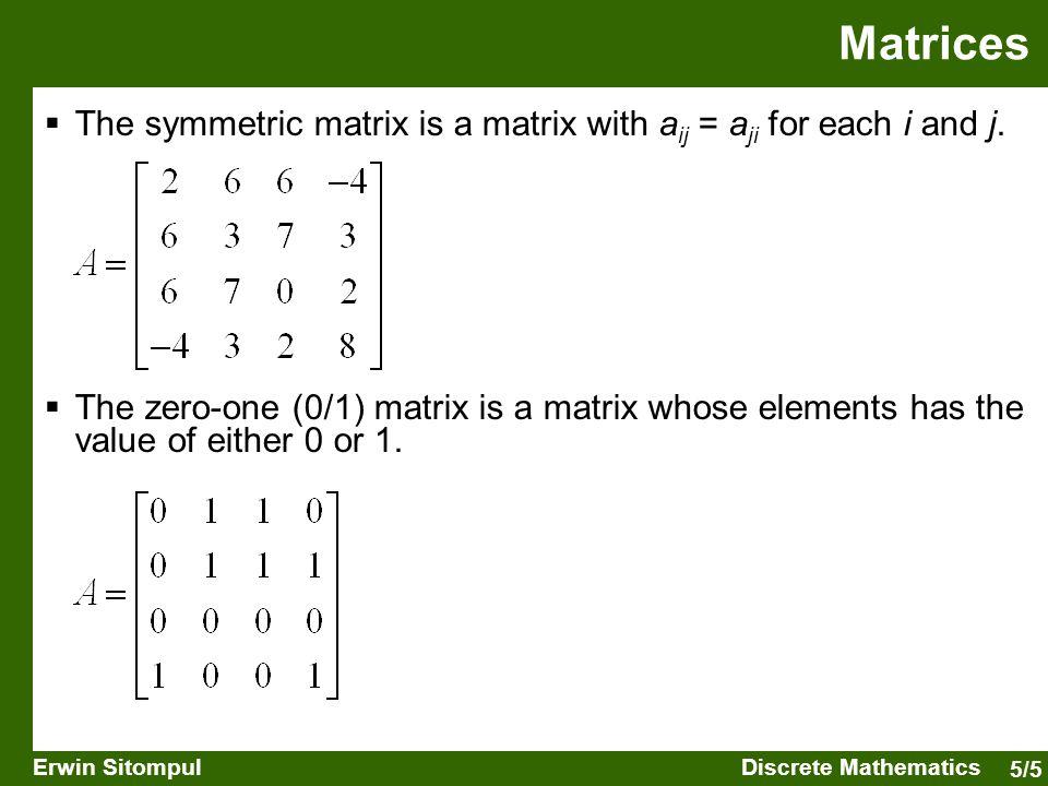 5/6 Erwin SitompulDiscrete Mathematics  A binary relation R between set A and set B is an improper subset of A  B.