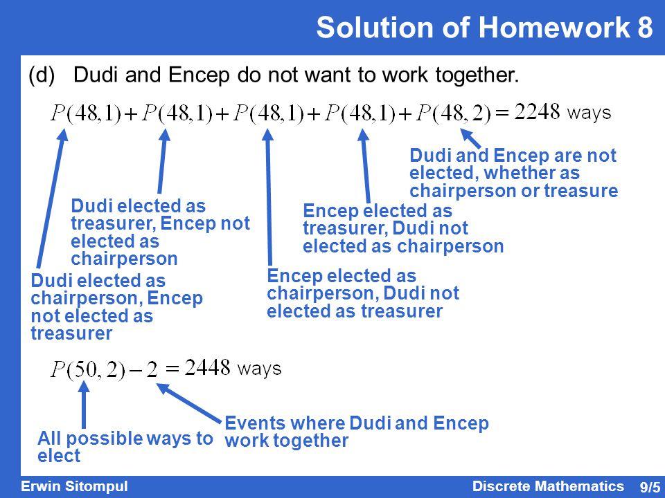 9/26 Erwin SitompulDiscrete Mathematics Example: A graph has five vertices.