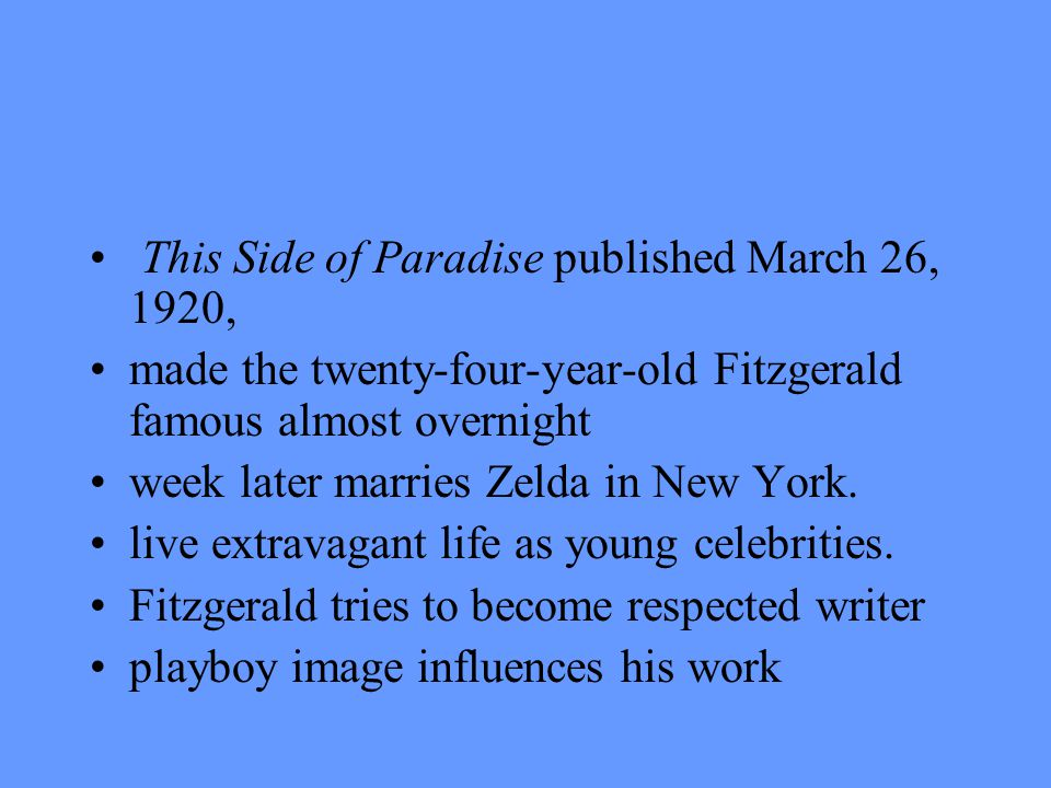 The crack up 1936-1937 period is known as the crack- up from the title of an essay Fitzgerald wrote in 1936.