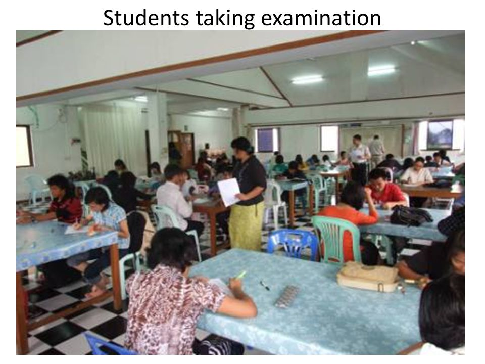 Students taking examination
