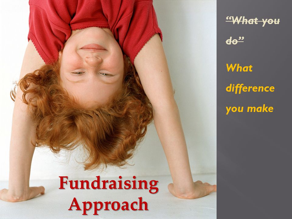 FundraisingApproach What you do What difference you make