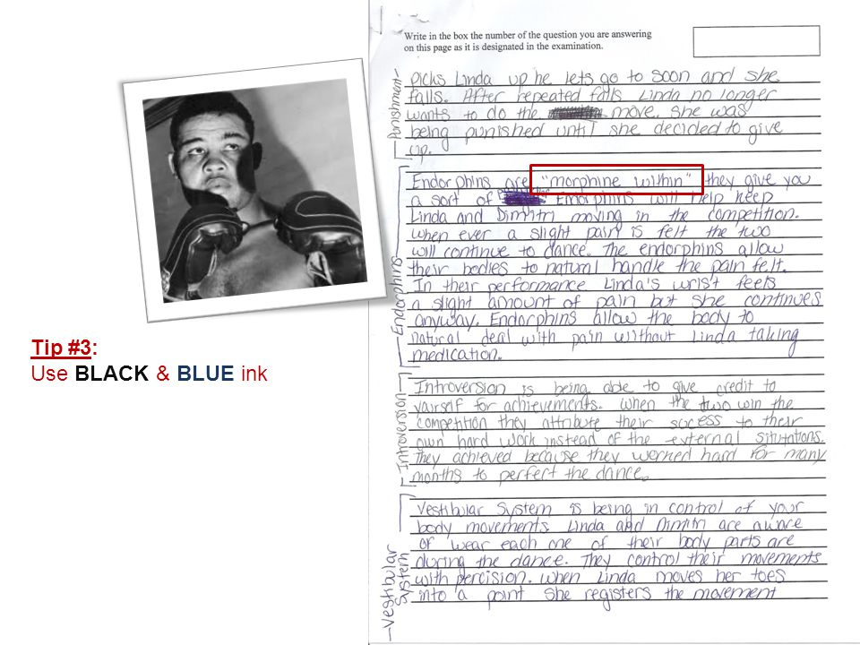 Tip #3: Use BLACK & BLUE ink
