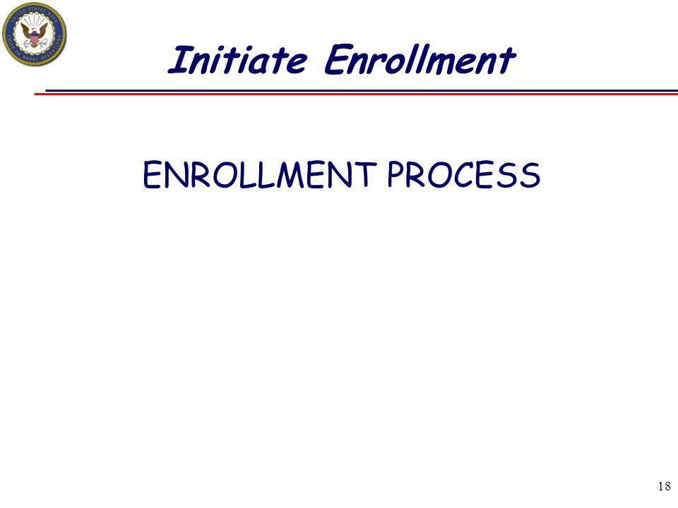 18 Initiate Enrollment ENROLLMENT PROCESS