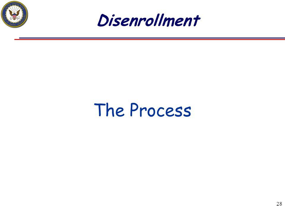 28 Disenrollment The Process