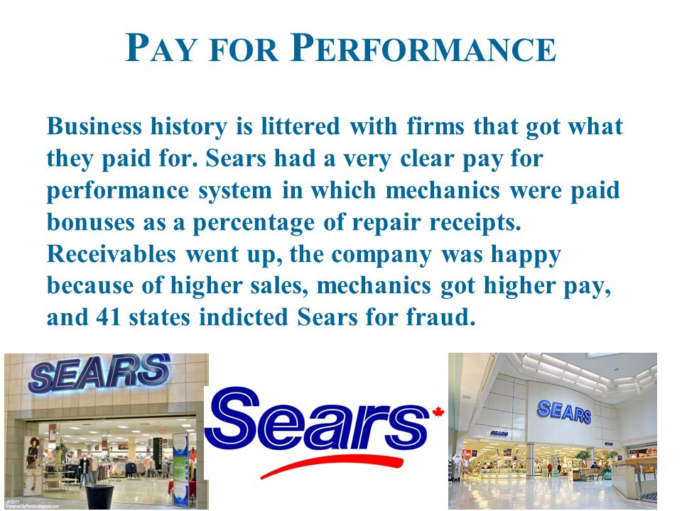 P AY FOR P ERFORMANCE Business history is littered with firms that got what they paid for.