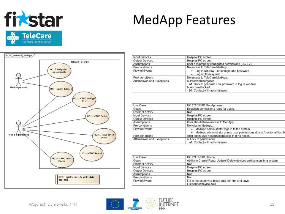 MedApp Features Wojciech Dymowski, ITTI11