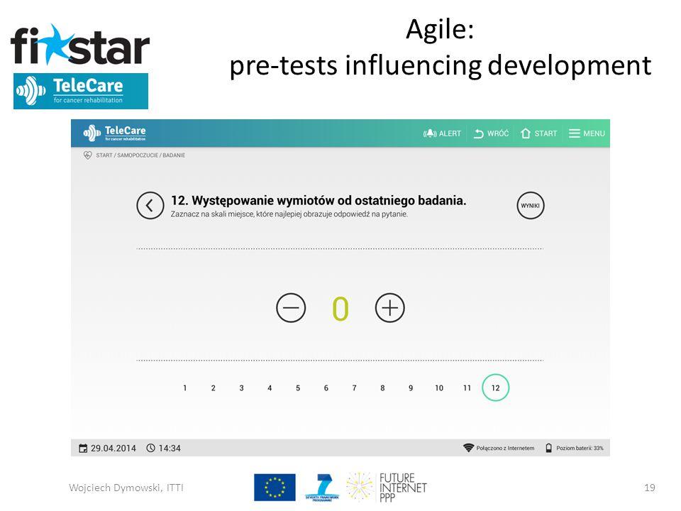 Agile: pre-tests influencing development Wojciech Dymowski, ITTI19