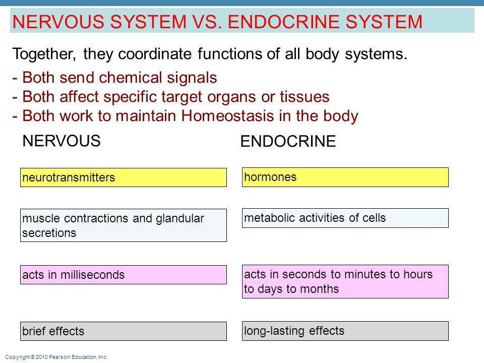 Copyright © 2010 Pearson Education, Inc.Nervous System vs.
