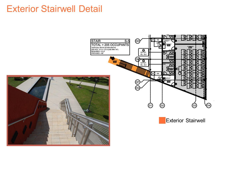 Exterior Stairwell Detail Exterior Stairwell