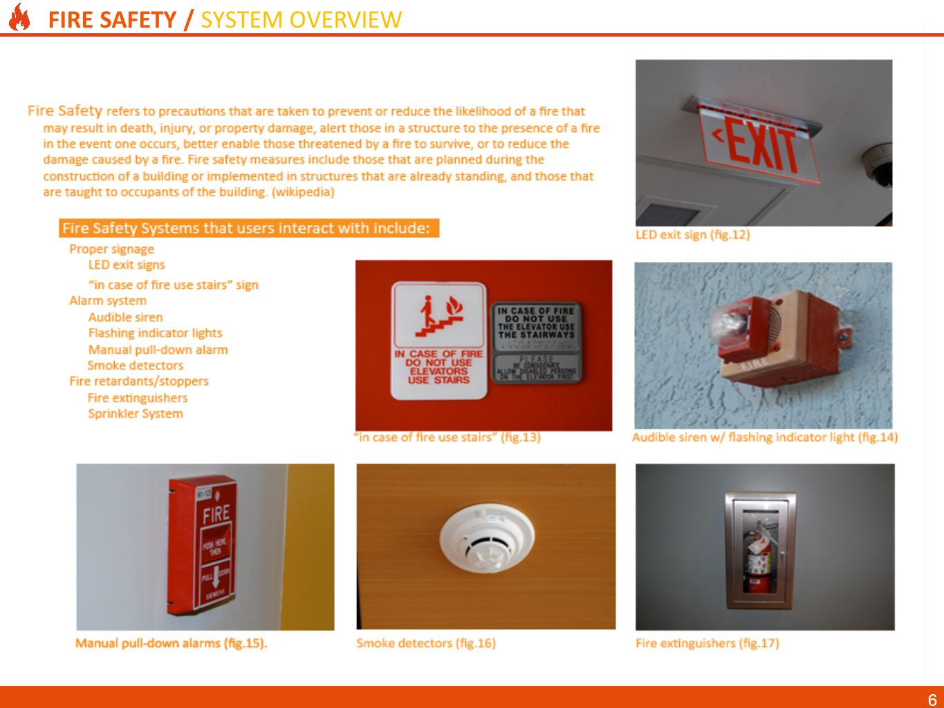FIRE SAFETY / SYSTEM OVERVIEW 6