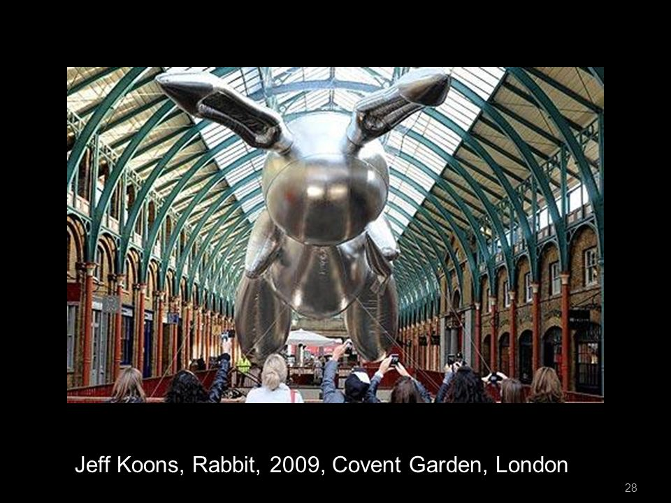 28 Jeff Koons, Rabbit, 2009, Covent Garden, London