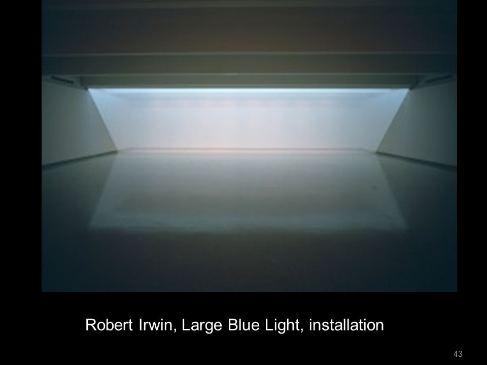 Robert Irwin, Large Blue Light, installation 43