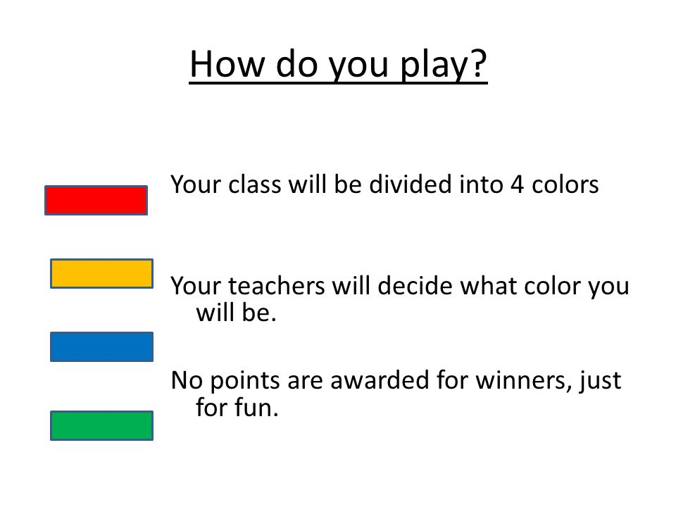 How do you play.