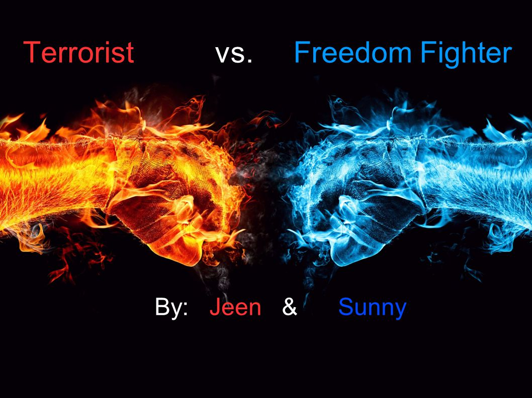 Terrorist vs. Freedom Fighter By: Jeen & Sunny