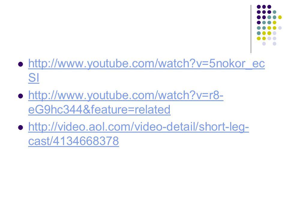 http://www.youtube.com/watch?v=5nokor_ec SI http://www.youtube.com/watch?v=5nokor_ec SI http://www.youtube.com/watch?v=r8- eG9hc344&feature=related ht