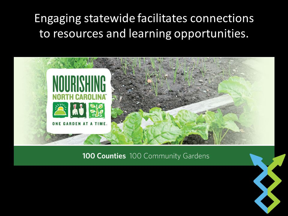 Engaging statewide facilitates connections to resources and learning opportunities.