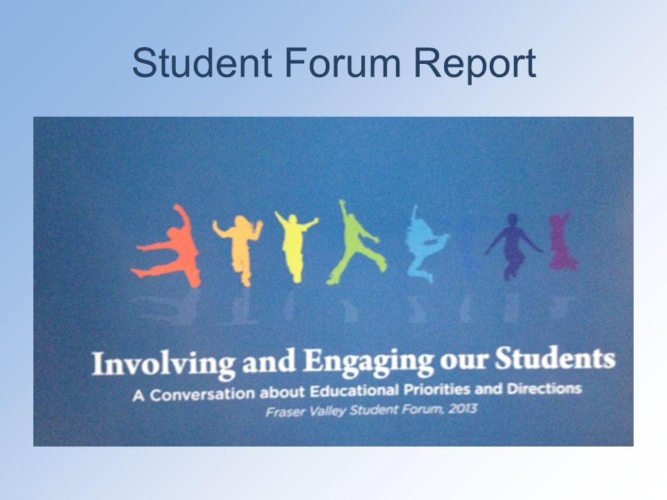 Student Forum Report
