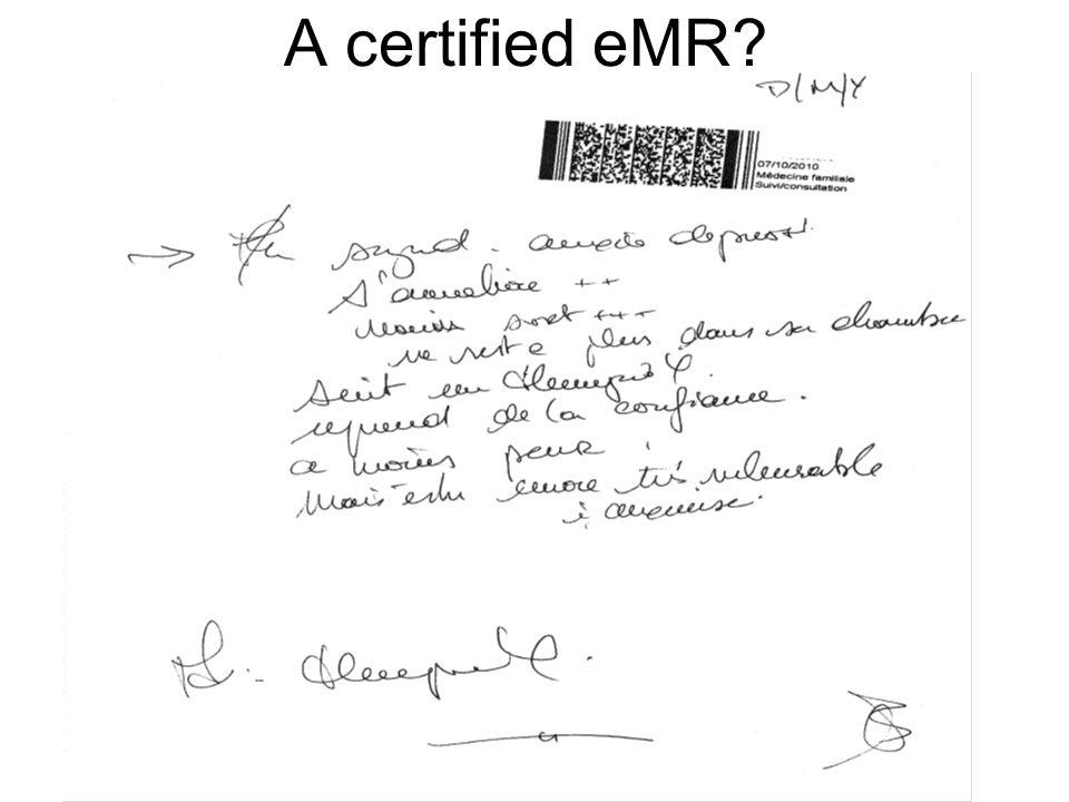 A certified eMR?