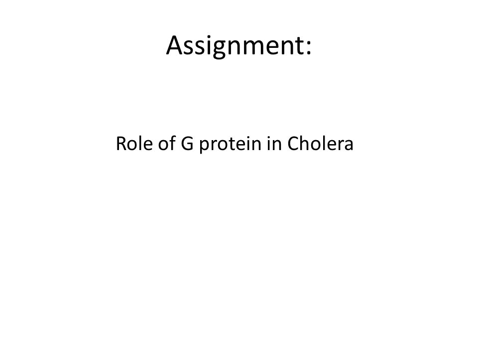 Assignment: Role of G protein in Cholera
