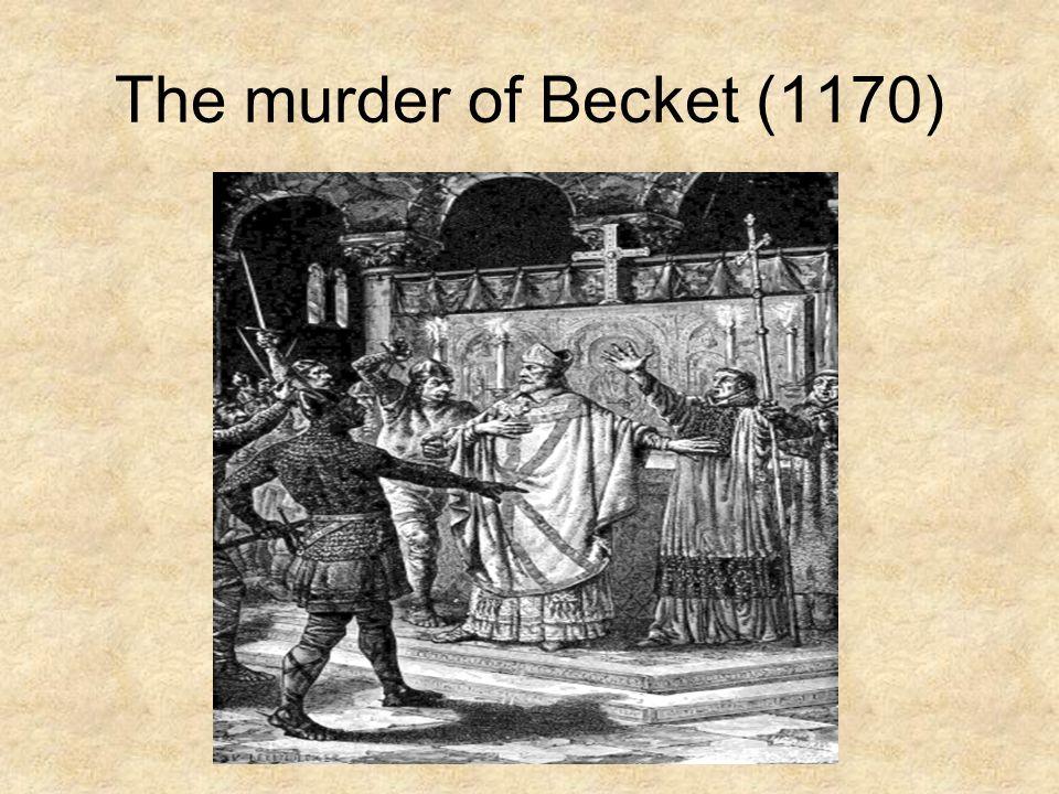 The murder of Becket (1170)