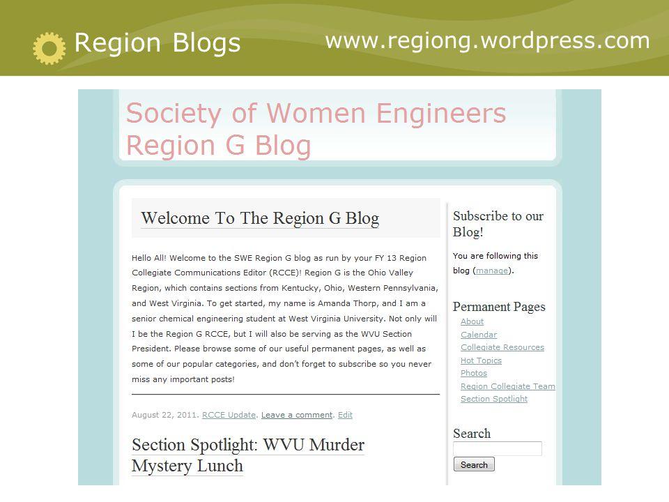 www.regiong.wordpress.com Region Blogs