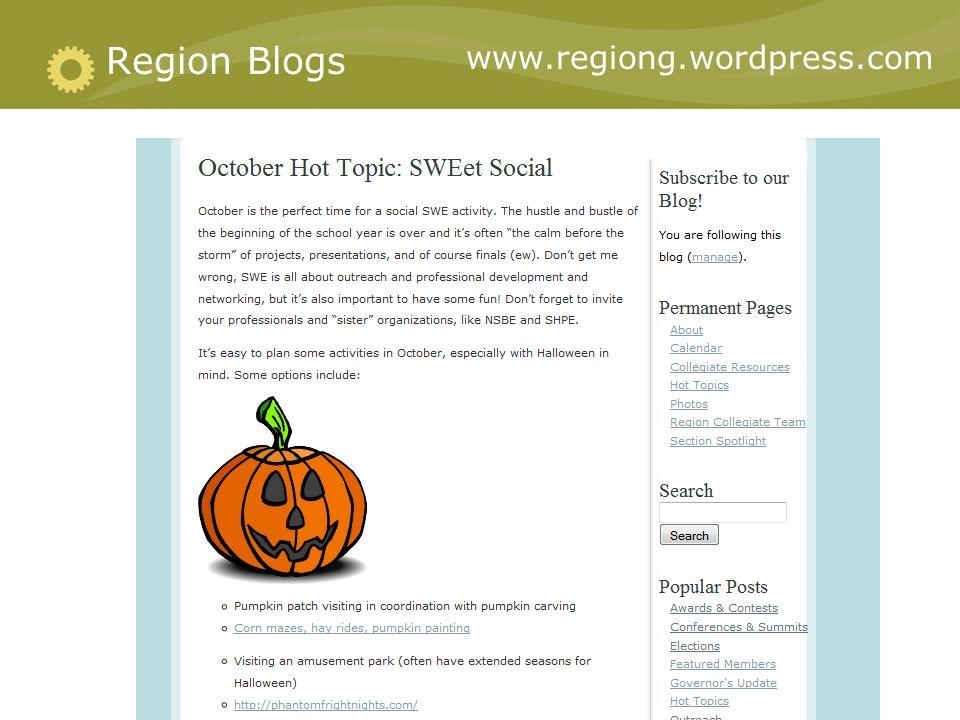 Region Blogs www.regiong.wordpress.com