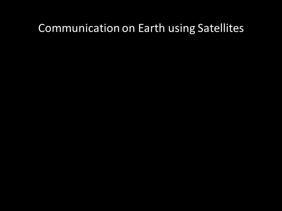 Audio Radio-waves Line-of-Sight Signal bouncing and bending Satellites