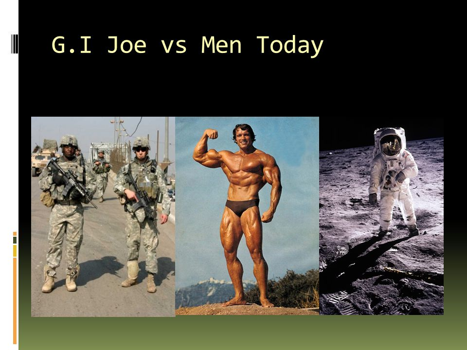 G.I Joe vs Men Today