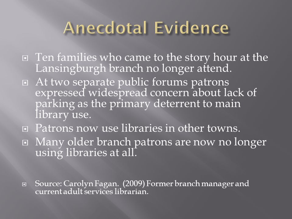  Ten families who came to the story hour at the Lansingburgh branch no longer attend.