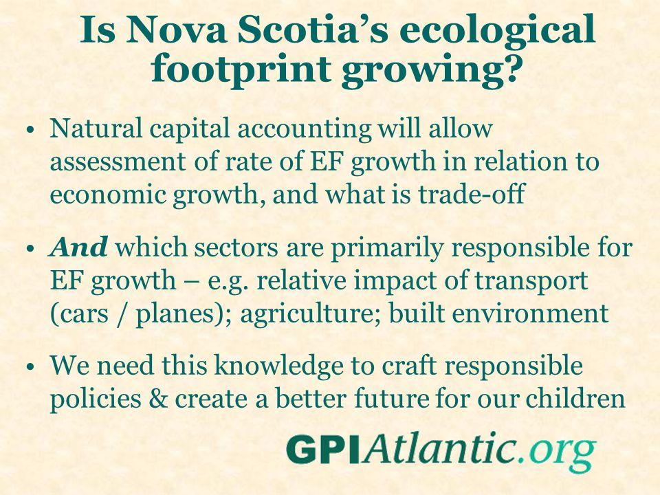 Is Nova Scotia's ecological footprint growing.