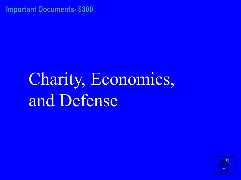 Important Documents- $200 Catholics