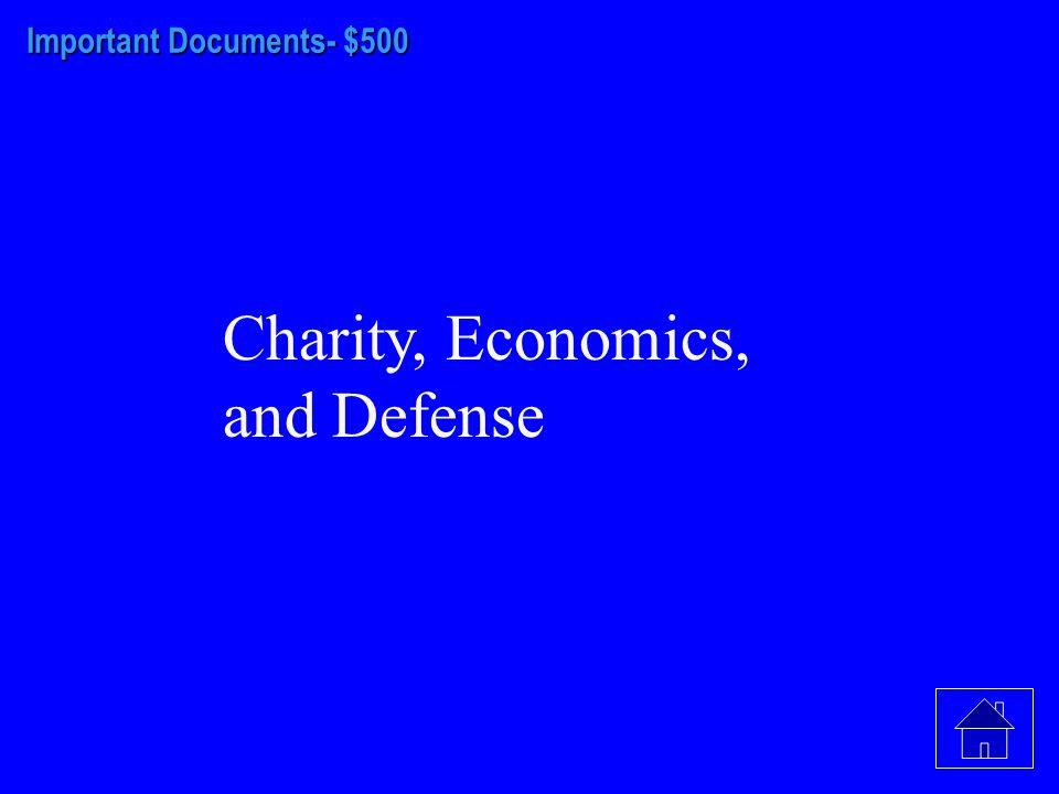 Important Documents- $400 Slavery, Liquor/Rum, Catholics, Inheritance and Limits on Land Ownership