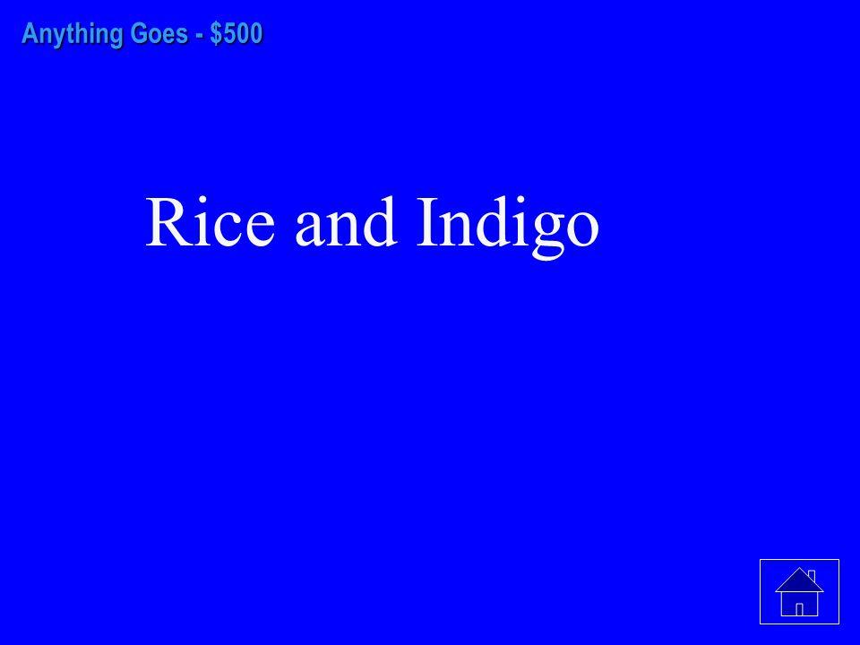 Anything Goes - $400 Savannah