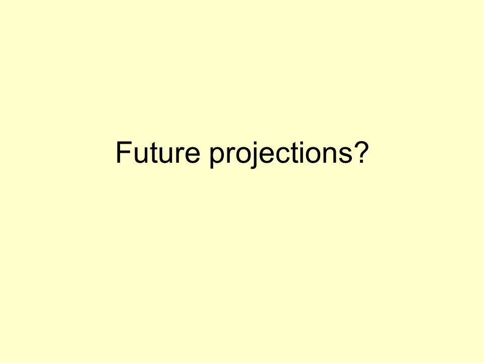 Future projections?