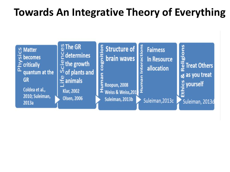 Towards An Integrative Theory of Everything