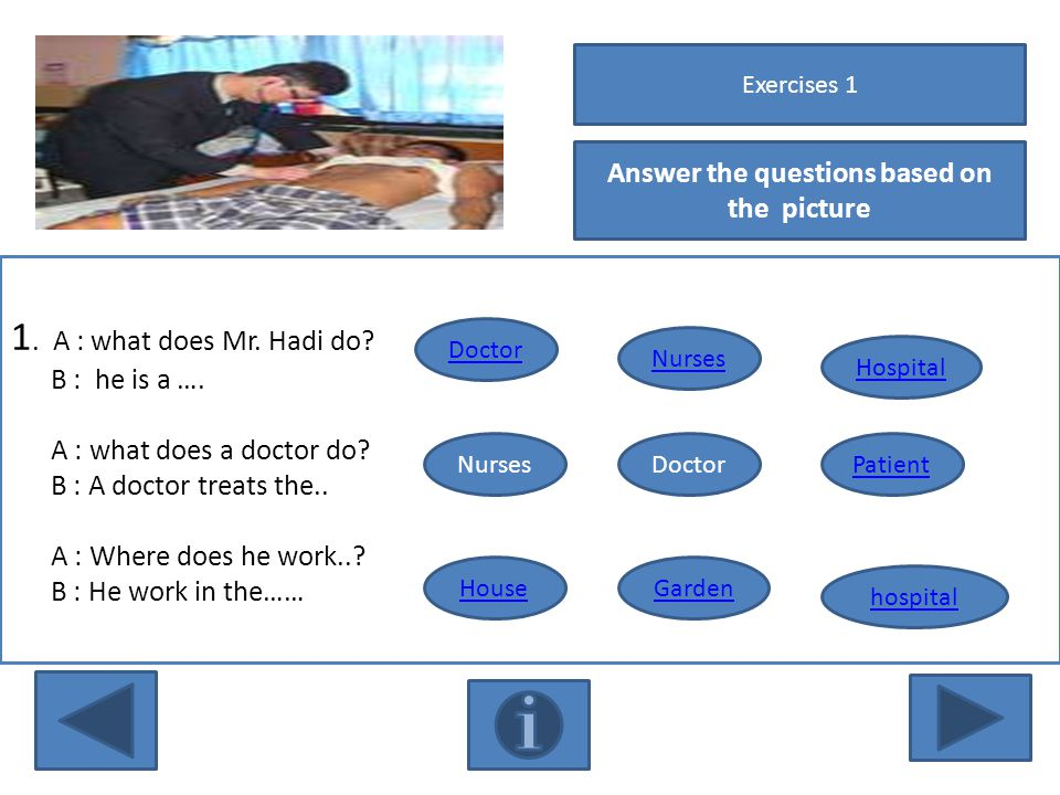 Answer the questions based on the picture 1.A : what does Mr.