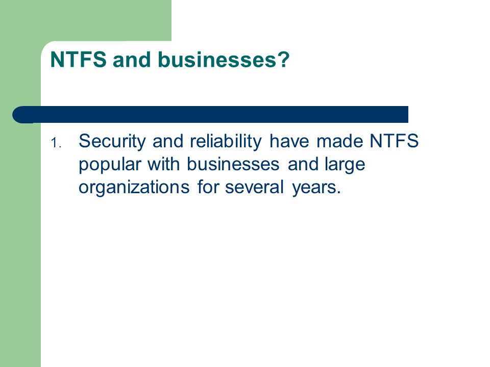 NTFS and businesses.1.