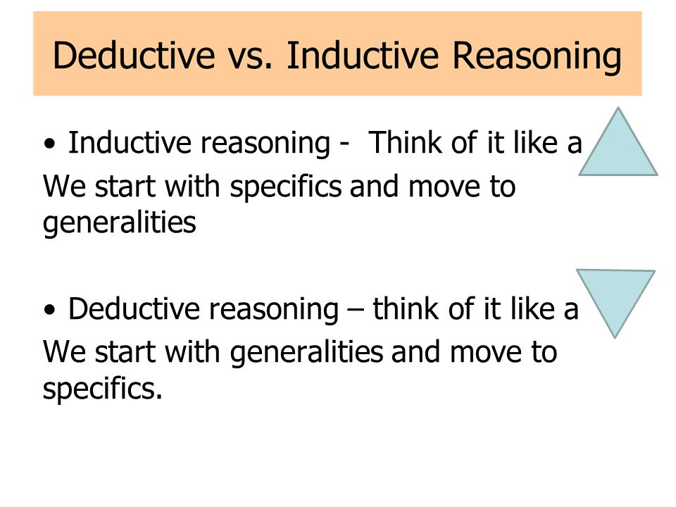 Examples of Inductive Reasoning Some examples 1)Every quiz has been easy.