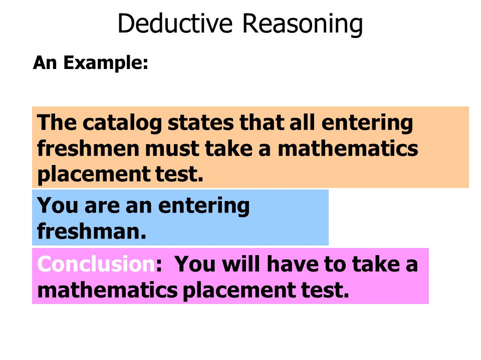 Inductive or Deductive Reasoning.