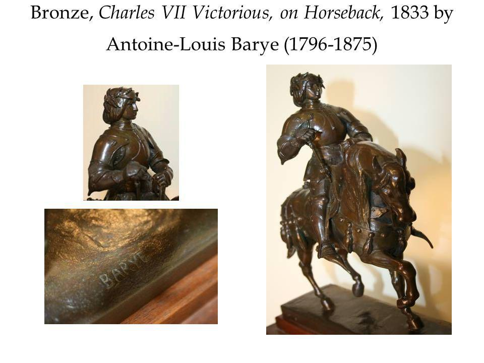Bronze, Charles VII Victorious, on Horseback, 1833 by Antoine-Louis Barye (1796-1875)