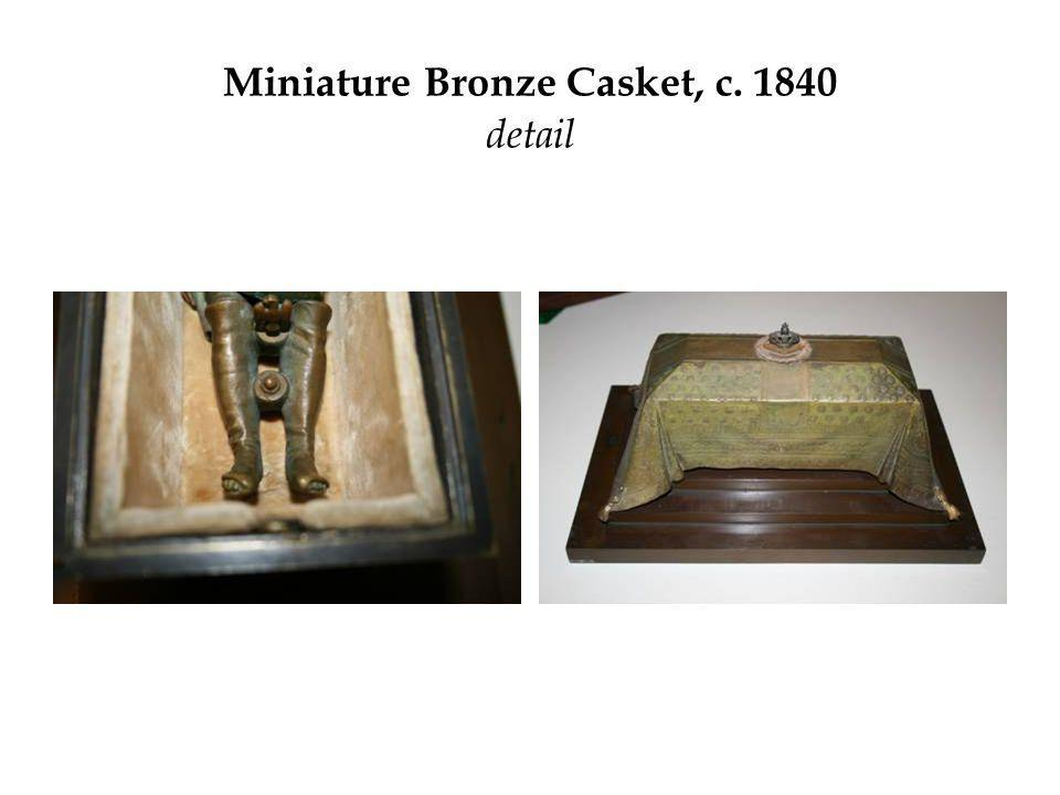 Miniature Bronze Casket, c. 1840 detail