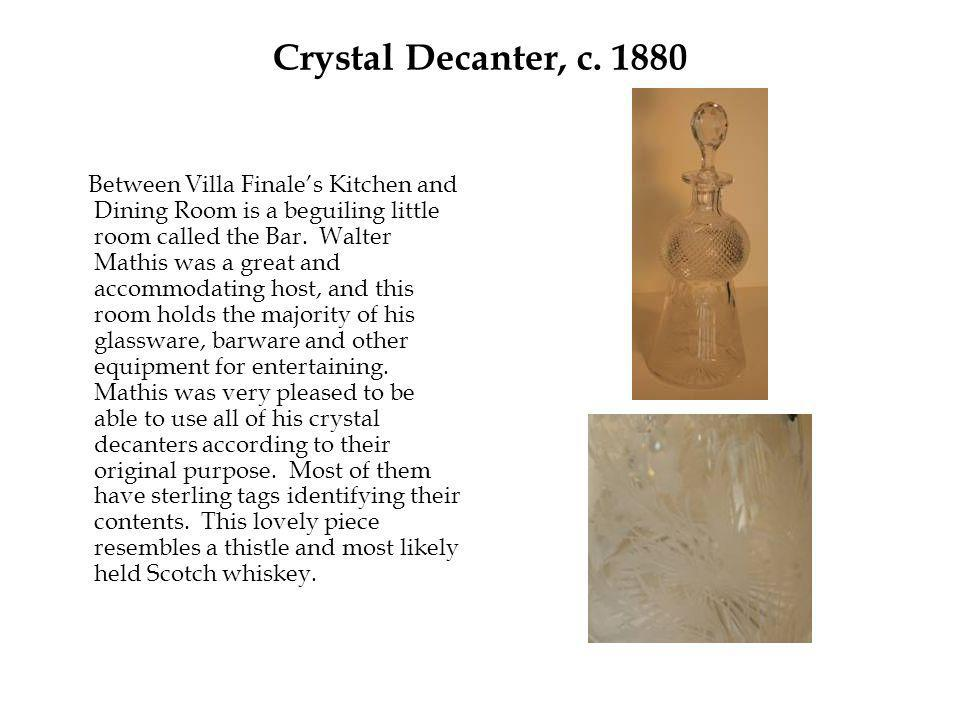 Crystal Decanter, c.