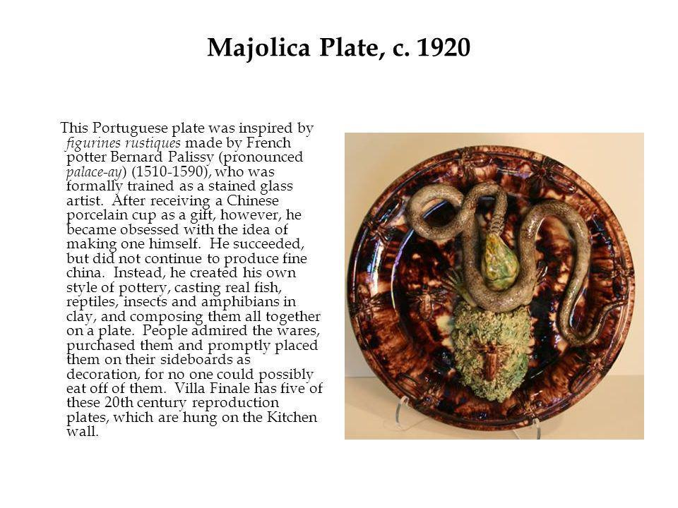 Majolica Plate, c.