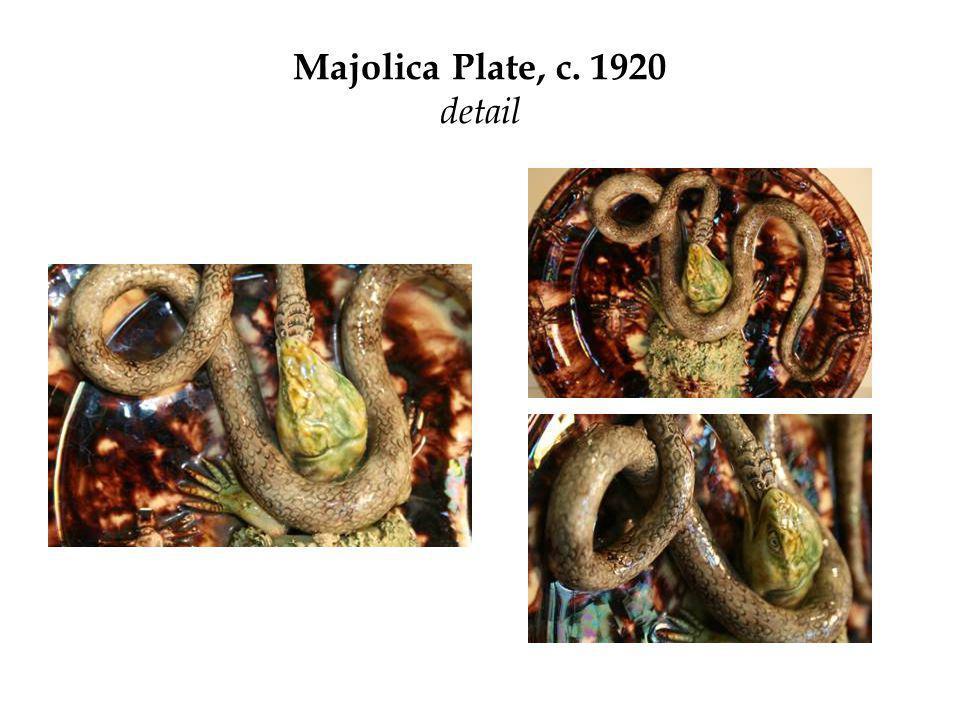 Majolica Plate, c. 1920 detail
