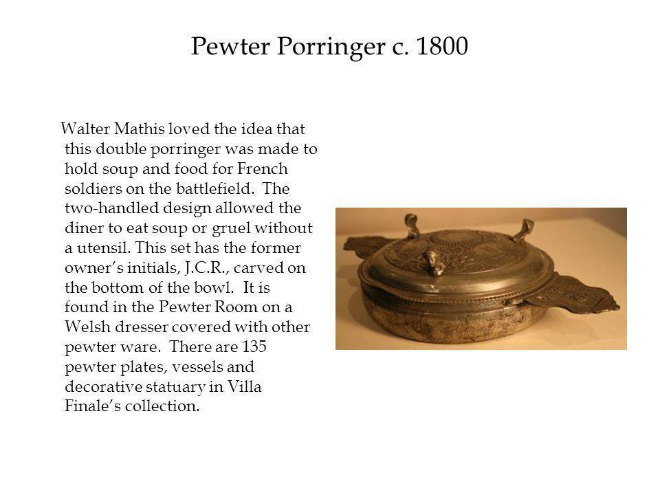 Pewter Porringer c.